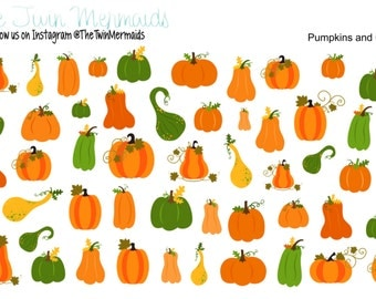 Pumpkins and Gourds Planner Stickers