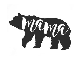 Mama bear Iron on Decal .Applique  Decal.Heat transfer vinyl.