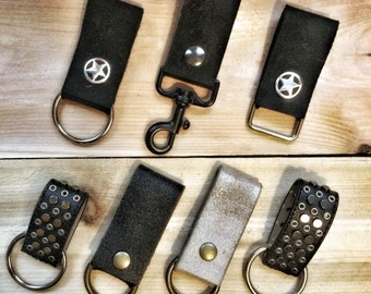 Leather Key Chain Fob