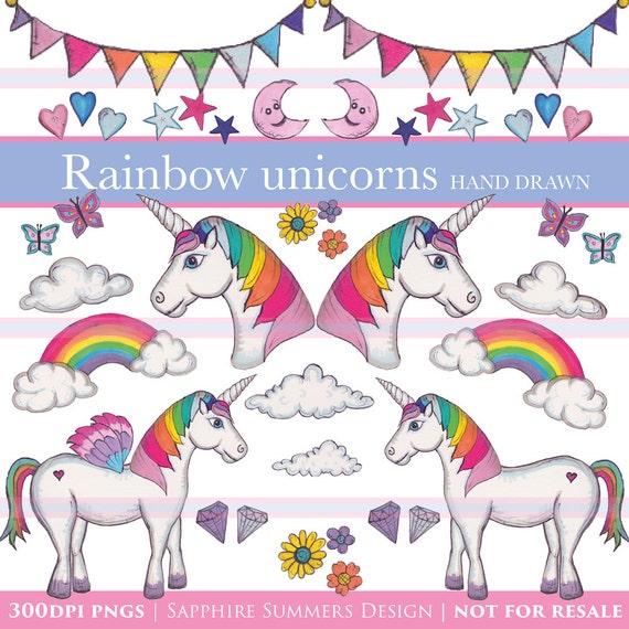rainbow unicorn clipart - photo #48