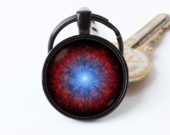 Cosmos key ring Astronomy keyring Nebula keychain Galaxy jewelry Space gift Nebula pendant Nebula keyring Space keychain Gift for teacher