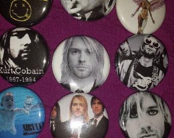 Kurt Cobain 9 Button Set