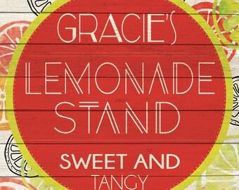 Custom Lemonade Stand Sign Digital Download