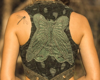 Butterfly Embroidery Waistcoat Vest