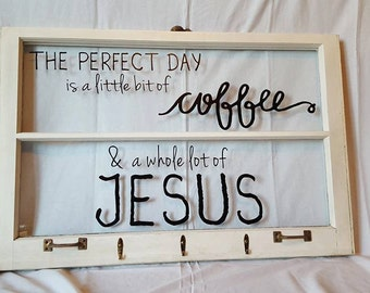 Vintage Window Coffee and Jesus
