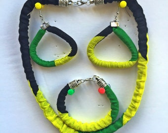 Jamaican jewelry set