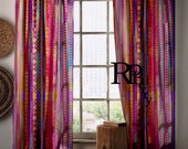 Bohemian Gypsy Curtains Moroccan Drapes Purple Pink