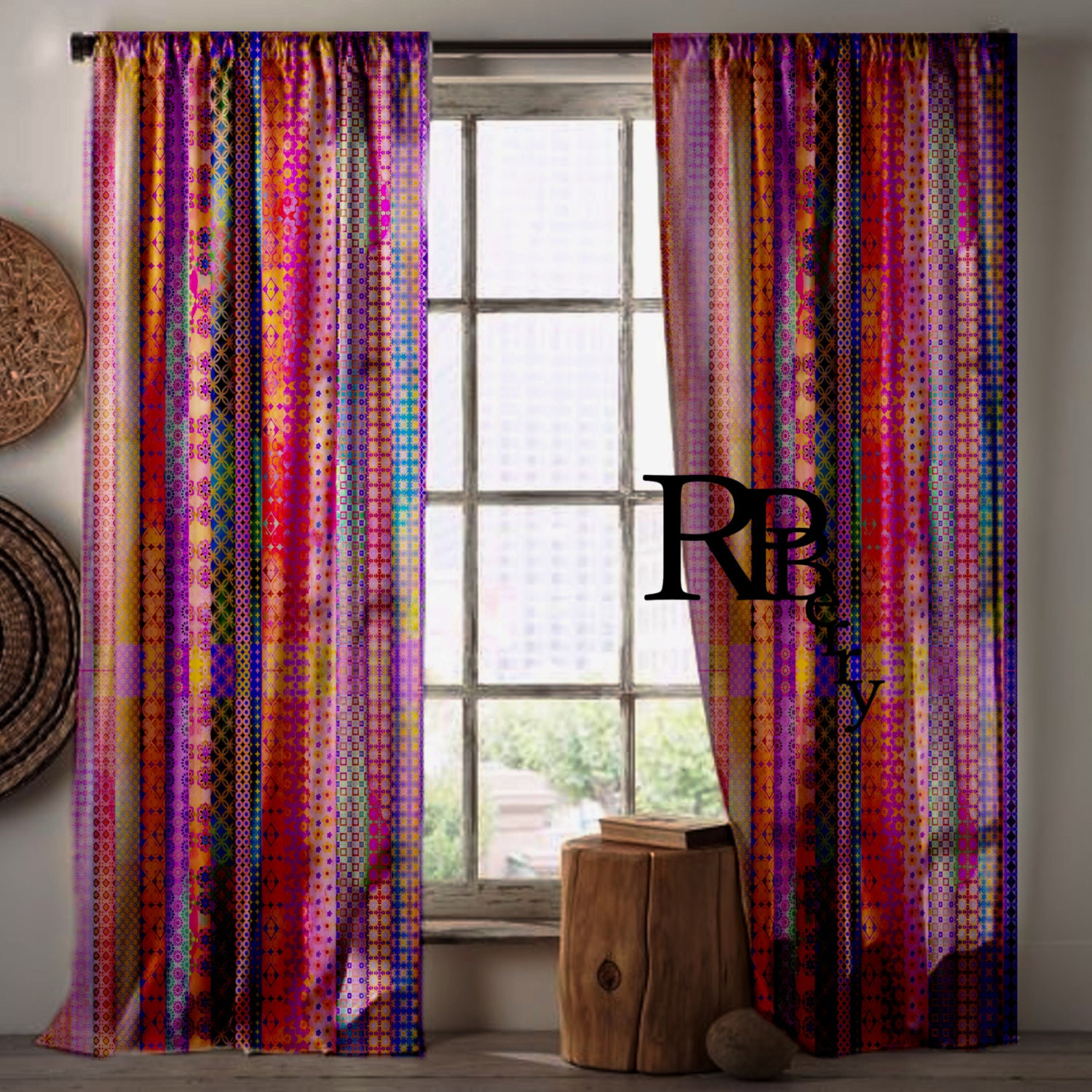 Bohemian Gypsy Curtains Moroccan Drapes Purple By