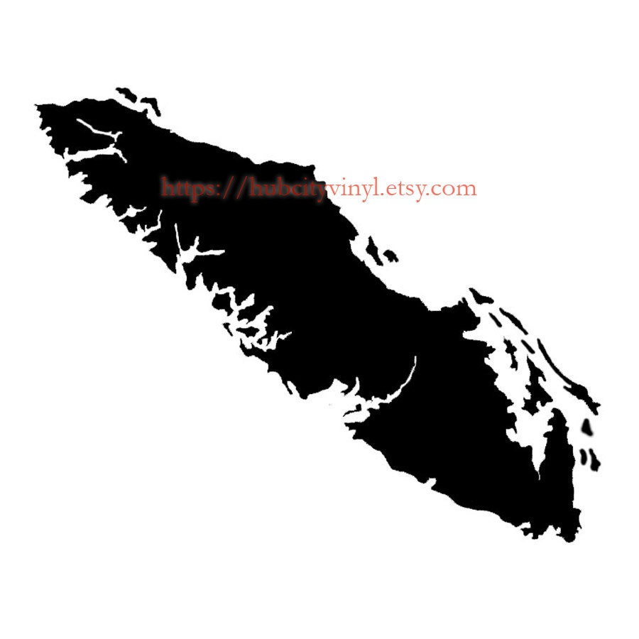 Vancouver Island Vinyl Decal - Custom vinyl decals vancouver