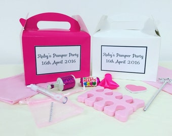 Personalised Pre Filled Girls Pamper Party Birthday Box Favours