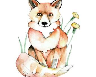 Mr. Fox, A4 print, 21cm x 29.5cm, unframed