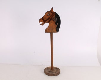 Antique Vintage Old Handmade Wooden Horse Children Toy.