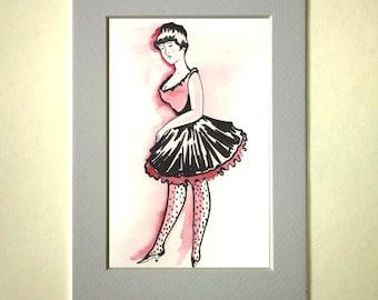 Watercolor Lady original drawing