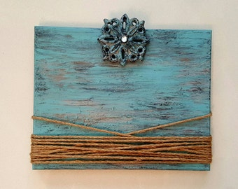 Shabby Chic Wood Picture Frame Blue Picture Frame Distressed Wood Picture Frame Vintage French Country Picture Frame Wedding Gift