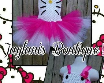 Hello Kitty Inspired tutu dress, Hello Kitty dress