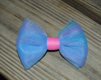 Multi-Color Tulle Hair Bow