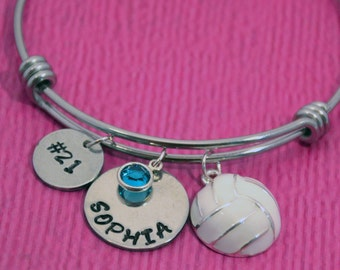Volleyball Bracelet | Volleyball Gifts | Gift for Volleyball Player | Volleyball Gift for Girl | Volleyball Charm | Volleyball Jewelry |