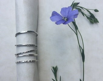 Argentium Silver Stacking Rings