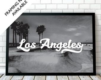 LOS ANGELES Travel Wall Art Print | A4/A3/A2