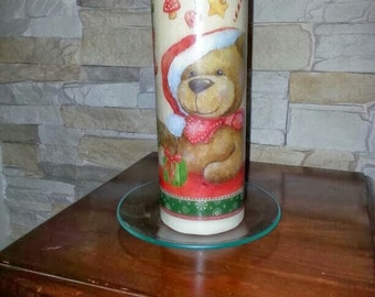 Candle personalized Teddy bear
