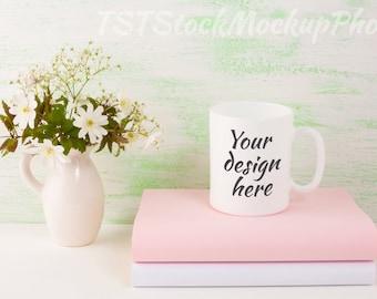 Mug mockup. White mug mockup. Coffee cup template. Coffee mug template. Mug template. Mug design. White cup mockup. Cup mockup. Light green.