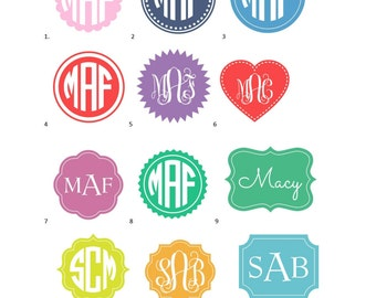 Vinyl Monogram Decal; Yeti Monogram; Car Monogram; Vinyl Monogram; Monogram Decal; Preppy Monogram; Monogram Sticker