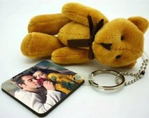 Personalized Teddy Keyring With your photo on it