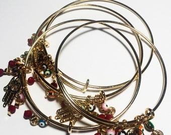 Handmade evil eye bangles