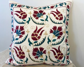 Uzbek suzani pillow cover # 24