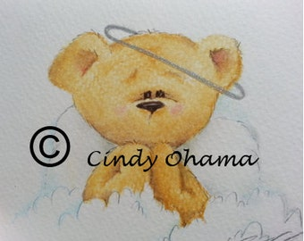 Angel Bear (Colored Pencils) by Cindy Ohama