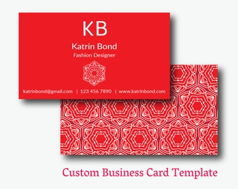Business card photoshop template red business cards personal for Red business card template