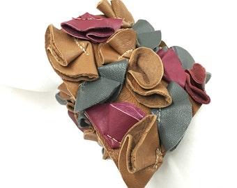 Gum Lai Multicolored Leather Cuff Bracelet
