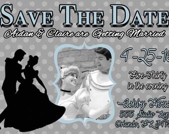 Cinderella Save the Date Invitation