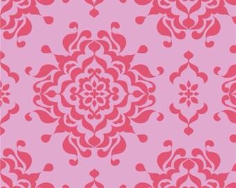 Riley Blake Splendor by Lila Tueller pink floral pink damask c3912