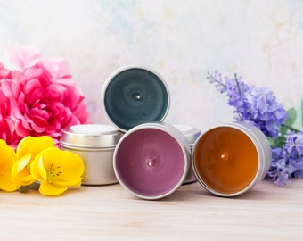 Bulk Order 2oz Travel Tins for Wedding Party Favors Gifts - Book Candle - Book Gift - Book Lover - Bookish Book Inspired Candle Party Favor