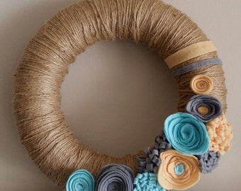 wreath felt flowers