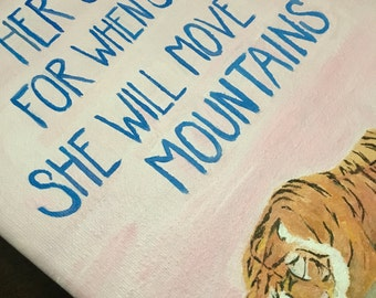 Nursery Series: Sleeping Tigress w/ Quote