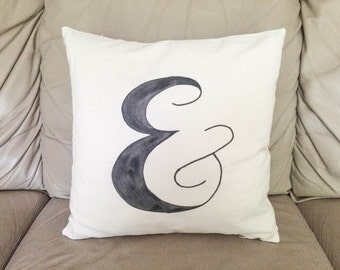 Ampersand Pillow, & Pillow, And Pillow