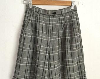 Vintage Plaid Bermuda Shorts