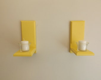 Painted Candle Sconce Set