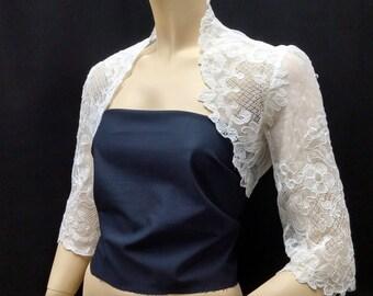 French Lyon Lace Bolero Jacket