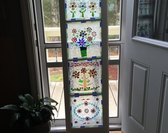 SOLD *********Large porch panel made with refurbished window