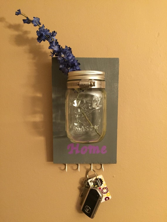 Customized Mason Jar Key Holder Wall Mount Mason Jar Wall