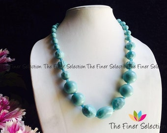 handcrafted glass beaded necklace