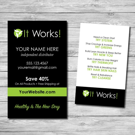 It Works Customized Business Cards Printable by