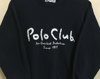 Vintage 90's Polo Club by Ralph Lauren Classic Design Skate Sweat Shirt Sweater Varsity Jacket Size M #A292