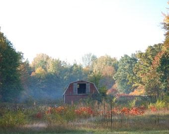 Little Barn in the fog