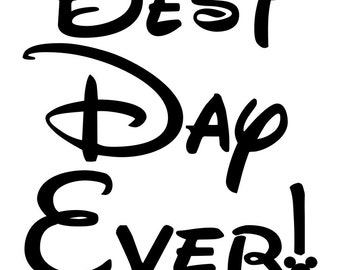 "Disney ""Best Day Ever!"" Iron-On Shirt Design"