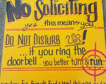 No Soliciting Sign for Front Door