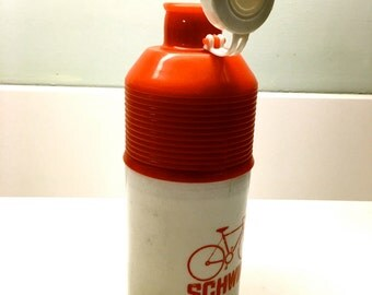 Cool Vintage Schwinn Bicycle Water Bottle - Thermos 1960's Made in Taiwan